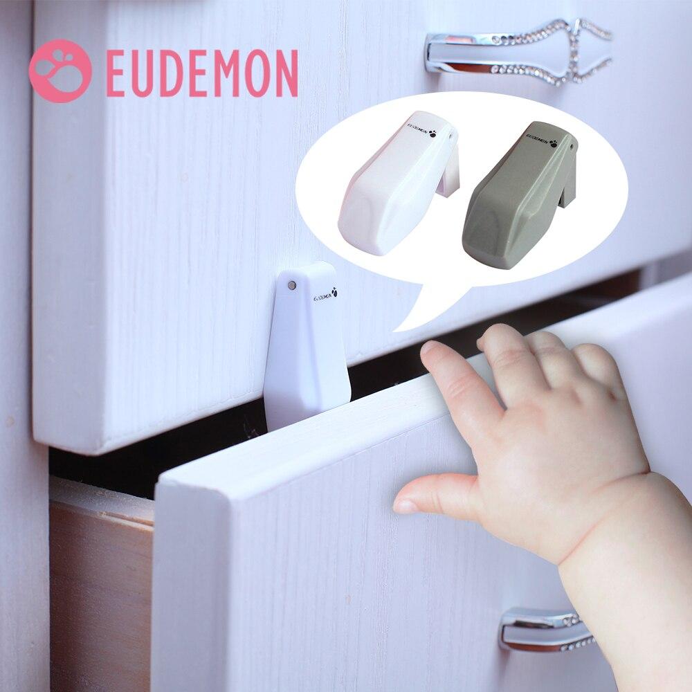 Eudémon serrure d'armoire à tiroirs pour enfants | 4 pièces, serrure à tiroirs de sécurité pour bébés, Design anti-oiseaux tondeuse, verrouillage de Transformation automatique, bouchon de porte pour enfants