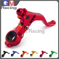CNC Aluminum Pivot Short Adjustable Stunt Clutch Lever with clamps specially for Motorcycle Dirt bike Pit Bike Motocross