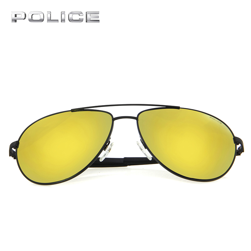 1201f10ac94 POLICE Aviator Metal Frame Sunglasses Women Men Brand Designer Vintage  Luxury Pilot Driver Sport Clear Sunglasses UV400 SPL123K-in Sunglasses from  Apparel ...