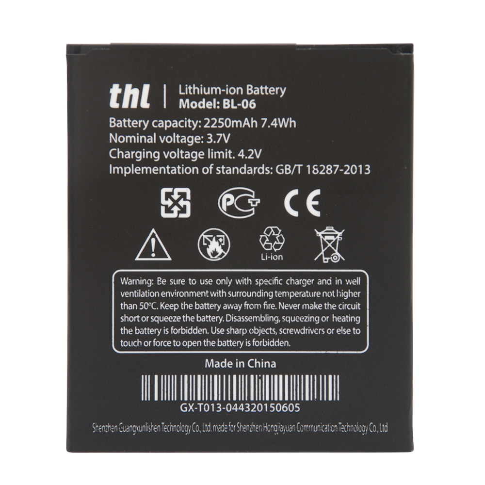Original THL T6/T6S/T6 Pro Battery 2250mAh Original Battery BL-06 For THL T6/T6S/T6 Pro Smartphone Replacement