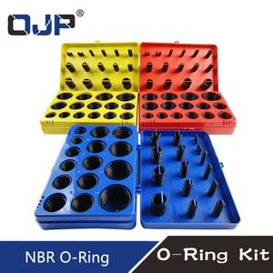 Image 2 - 382/386PC Black Rubber Ring 30Size Nitrile O ring Seal Washer Sealing NBR O ring Gasket Red/Blue/Yellow Assortment Set Kit Box