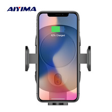 AIYIMA Qi Wireless Charger For iPhone XS Max X XR 8 Automatic Induction Car Phone Holder Fast Charging For Samsung Note 9 S9 S8 aiyima 10w qi wireless charger fast wireless car charger automatic induction car phone holder for iphone 8 8 plus x samsung s9