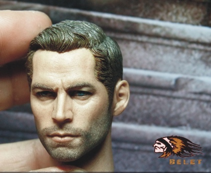 "1:6 male Figure accessories Fast & Furious Paul Walker head shape carved for 12"" Action figure doll,not include body and clothes"