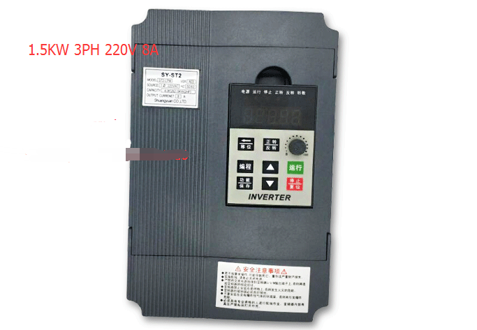 VFD Inverter 1.5kw input 220v single output 3phase 220v Feee-Shipping warranty :18 month inverter speed controller single phase 220v 1 5kw mini inverter general use original and new free shipping