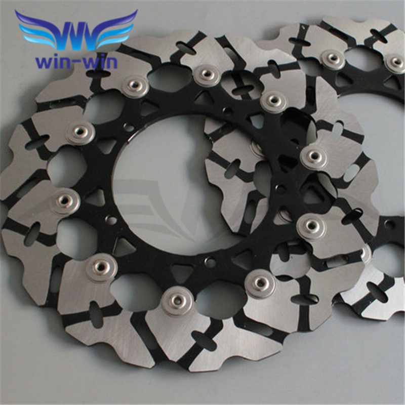 new  popular 2 pieces  motorcycle  Front  Brake Disc Rotor   for YAMAHA YZF R6 2005 2006 2007 2008 2009 2010 2011 2012 2013 aftermarket motorcycle parts frame plugs for yamaha 2006 2007 2008 2009 2010 2011 2011 2012 yzf r6 yzf r6