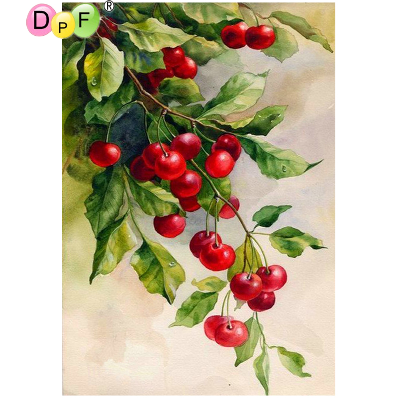 Dpf Diy Red Jujube 5d Full Square Crafts Home Decor Wall