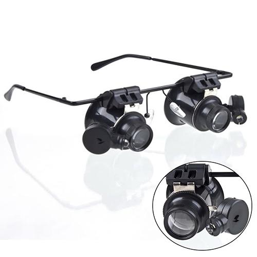 20x Magnifier Magnifying Glasses Loupe Lens Loupe Jeweler Watch Repair LED Light mg 21010 portable 20x magnifier w white light led for jeweler appraisal black orange 2 x aaa