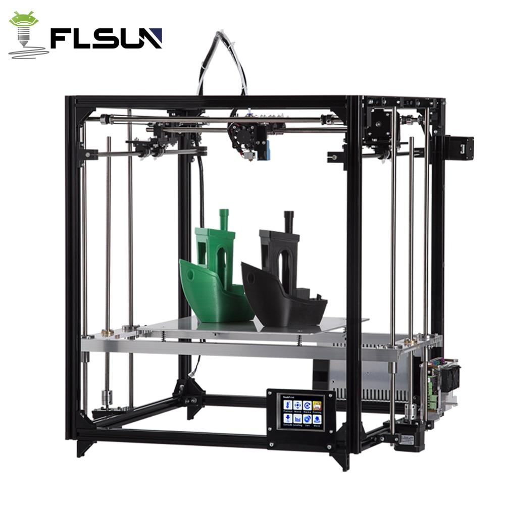 2017 Newest Large Printing Area 260 260 350mm Auto Leveling Aluminium Frame 3D Printer Kit Printer