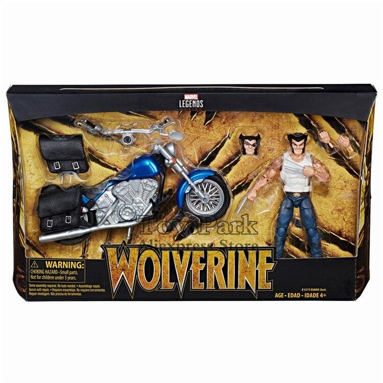 """2018 Marvel Legends serii 6 """"Wolverine z motocykla figurka Logan wyścigi jednooki zdemaskowany głowy pazur ręcznie kolekcjonerska w Figurki i postaci od Zabawki i hobby na  Grupa 1"""