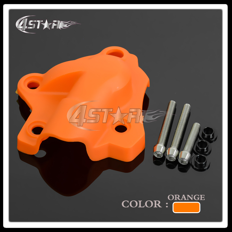Orange Plastic Water Pump Cover Protector Guard For KTM SXF EXCF XCF XCFW FREERIDE 250 350 Motocross Motorcycle Enduro Dirt Bike 6162 63 1015 sa6d170e 6d170 engine water pump for komatsu