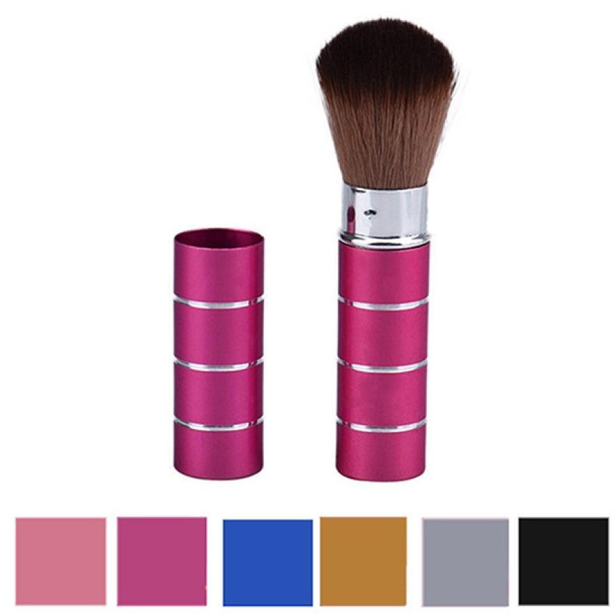 1PCS Women's Fashion Retractable Metal Brush Cosmetic Makeup Brushes Powder Foundation Blusher Brush Tool Aug 11