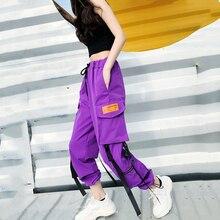 Hot Big Pockets Cargo Pantalones mujer alta cintura suelta Streetwear pantalones holgados tácticos pantalones hip hop pantalones de alta calidad