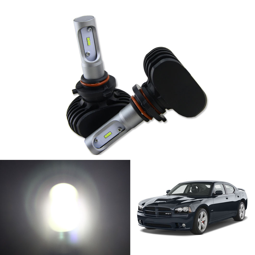 High Power 50W 8000LM LED Headlight Kit Low Beam Bulbs For <font><b>2006</b></font>-2010 <font><b>Dodge</b></font> <font><b>Charger</b></font> Headlamp 6000K White Car Light image