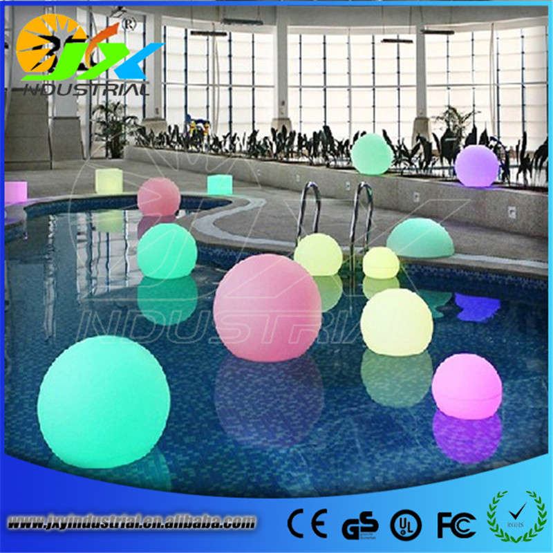 20cm floating led illuminated swimming pool ball light ...