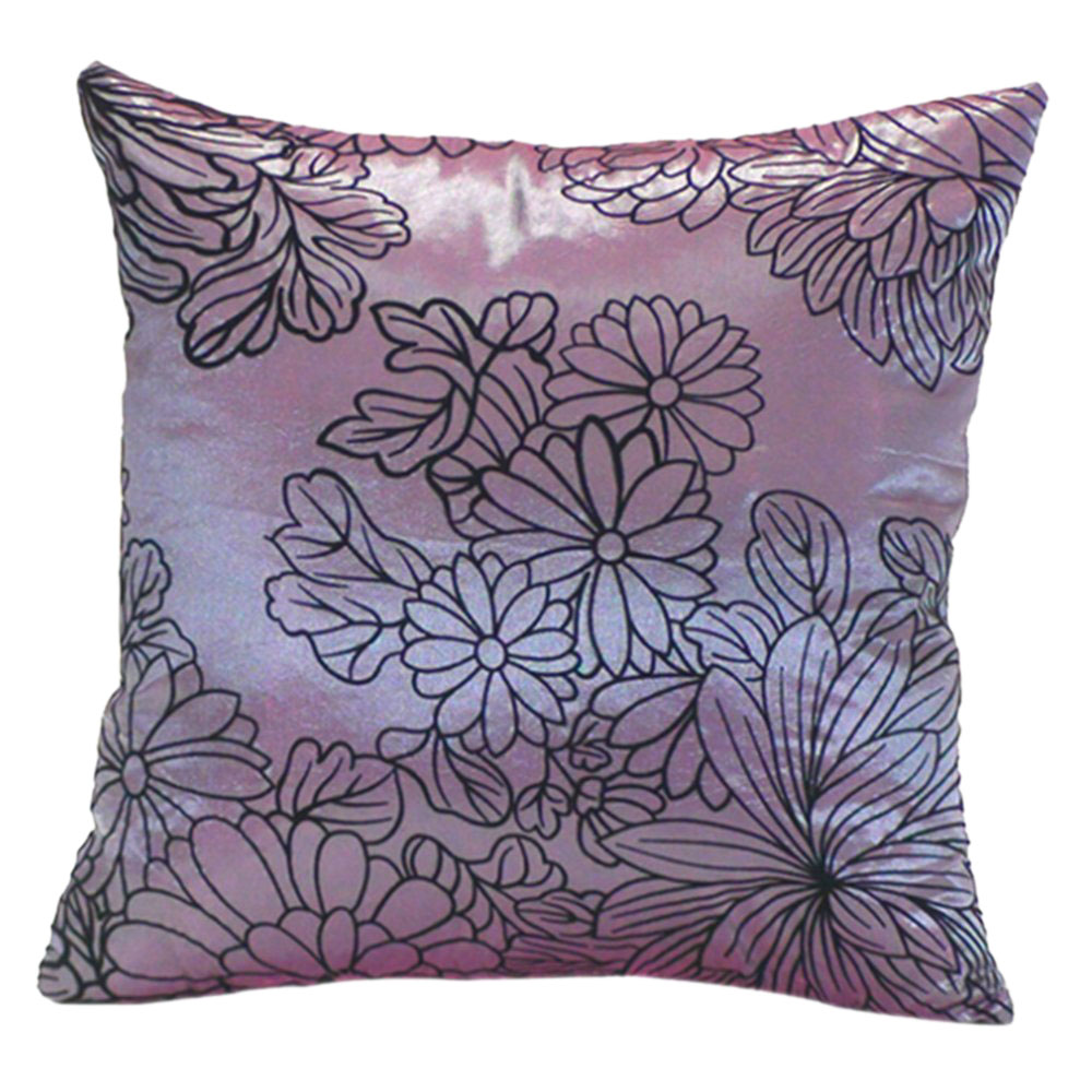 Nhbr home bed square decorative throw pillow case purple for Decorative bed pillow case