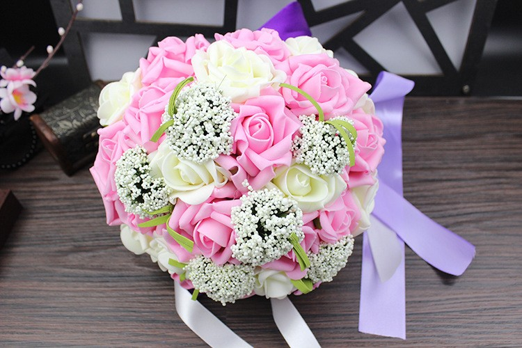 Wedding Bouquet de mariage Bridal Bouquet Wedding Bouquet Bridesmaid Artificial flower Boeket buques de noivas Bruidsboeket (11)