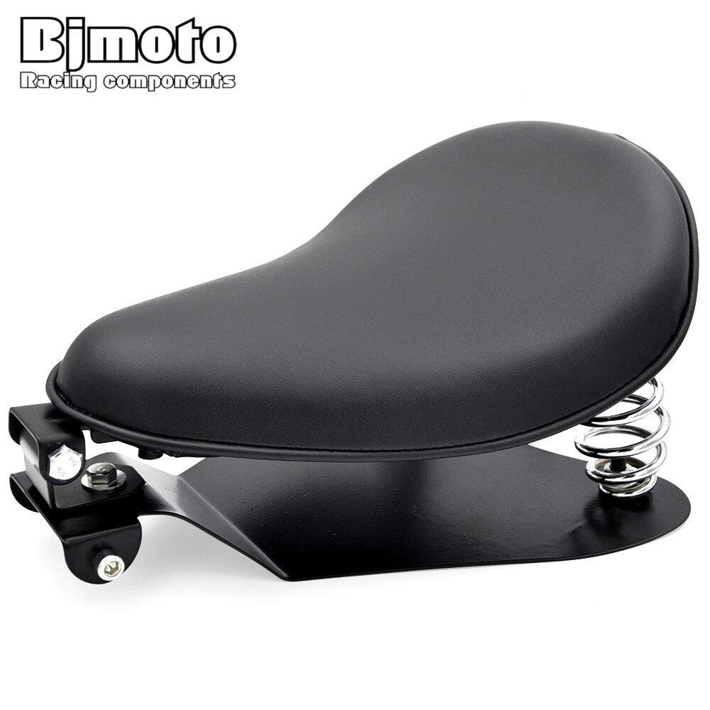 BJMOTO Solo siège plinthe & ressorts & support Kit de montage pour Honda, Yamaha, Kawasaki, Suzuki, Sportster, Bobber, Chopper