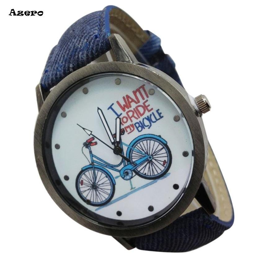 Beliebte Marke Vintage Uhr Denim Fahrräder Männliche Und Weibliche Studenten Paar Tabelle Relogio Feminino Frauen Uhren Reloj Mujer Bajan Kol Saati Volumen Groß Quarz-uhren Uhren