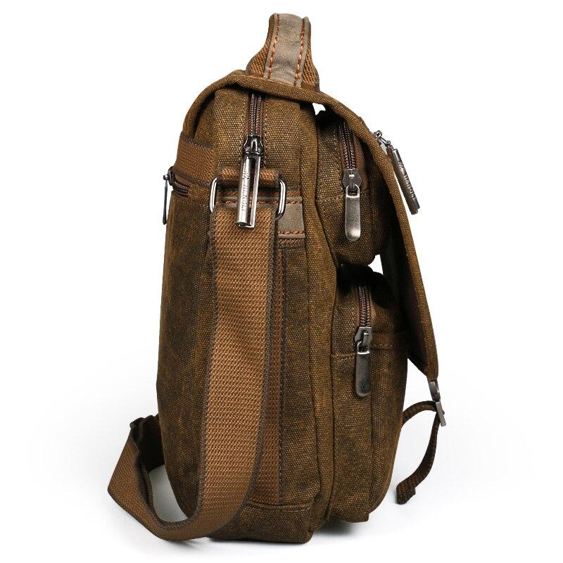 Borsa di tela a tracolla degli uomini di borse per il tempo libero di usura resistente retro croce messenger borsa Vintage moda casual crossbody Bag-in Borse a tracolla da Valigie e borse su  Gruppo 3