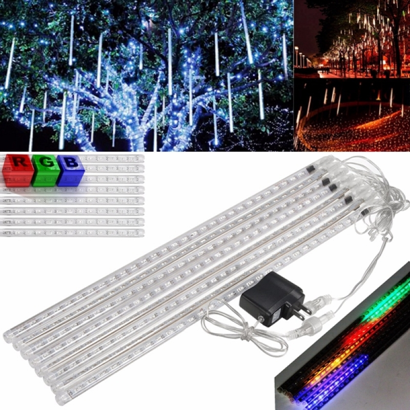 Christmas Holiday Light 50CM LED Meteor Shower Rain Tube Lights Set RGB Colorful Light(110V) 10sets lot smd5050 warm white red green double side led meteor shower lights led tube 12 500 mm10 pcs set 48 leds pc