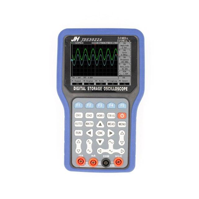 JinHan JDS3022a Series ручной дигитальный осцилоскоп/ мультиметр, 30MHz, двойной канал, 250MS/a