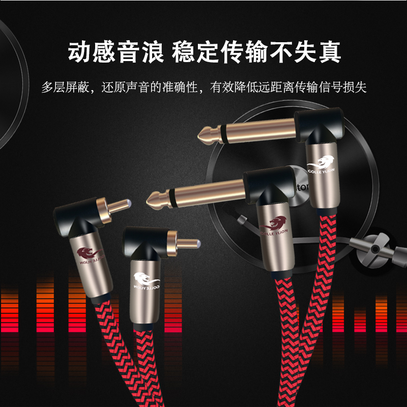 Hifi Angle L Dual 6.35mm to Dual RCA Audio Cable Amplifier Mixer Console 1/4 TS Jack RCA Cable 1M 2M 3M 5M 8M
