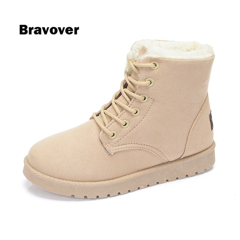 women warm snow boots with Plush&Fur winter boots new arrival women ankle boots women shoes Botas Mujer Ankle Snow Boots 2016 rhinestone sheepskin women snow boots with fur flat platform ankle winter boots ladies australia boots bottine femme botas