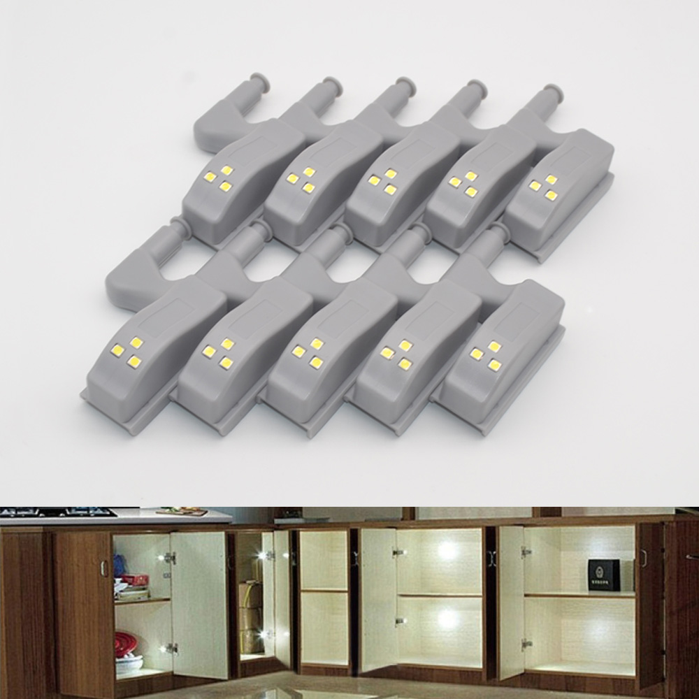 2pcs Under Cabinet Light Automatically Universal Furniture Night Light Cupboard Hinge Led Bulb Lamp Door Drawer Wardrobe System Back To Search Resultslights & Lighting