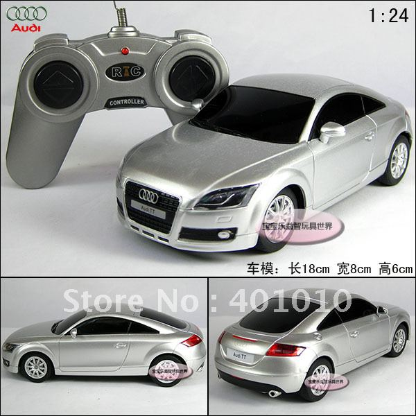 New Silver AUDI Tt Rc Toy Car Remote Control Car Models Educational - Audi remote control car
