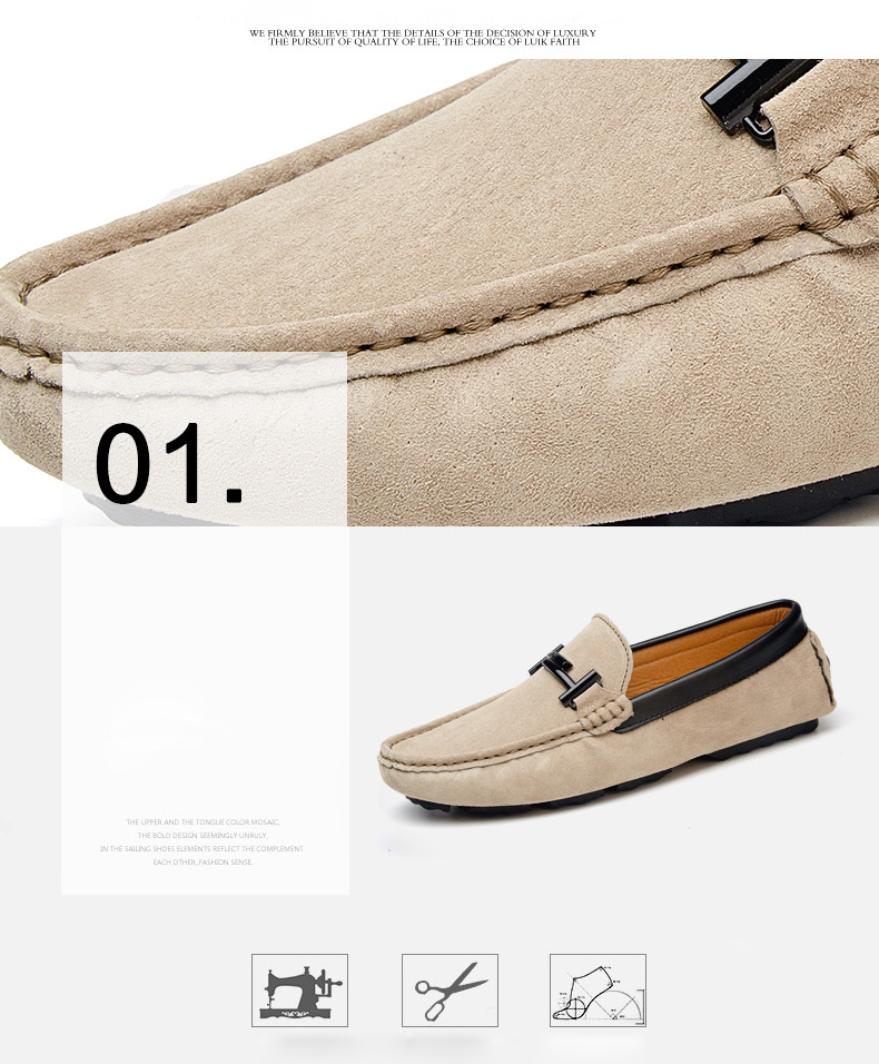 Men's Top Brand Fashion Casual Soft Loafers Suede Boat Shoes Male Footwear Adult Drivings Summer Moccasins Hommes Plus Size 11 54