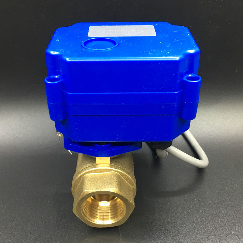 Brass Valve 2 Way 1/2'' (DN15) Motorized Ball Valve 3 Wires (CR03 Wiring) DC3-6V(5V), electric ball Valve For Water Control shipping free dc5v 1 stainless steel electric ball valve dn25 electric motorized ball valve 2 wires cr01 wiring