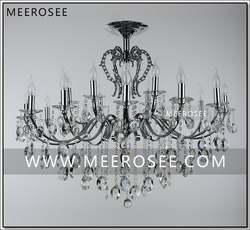 Винтаж серебряные люстры Большой Традиционный кристалл светильник блеск кристалл подвесной светильник ресторан Lampadario