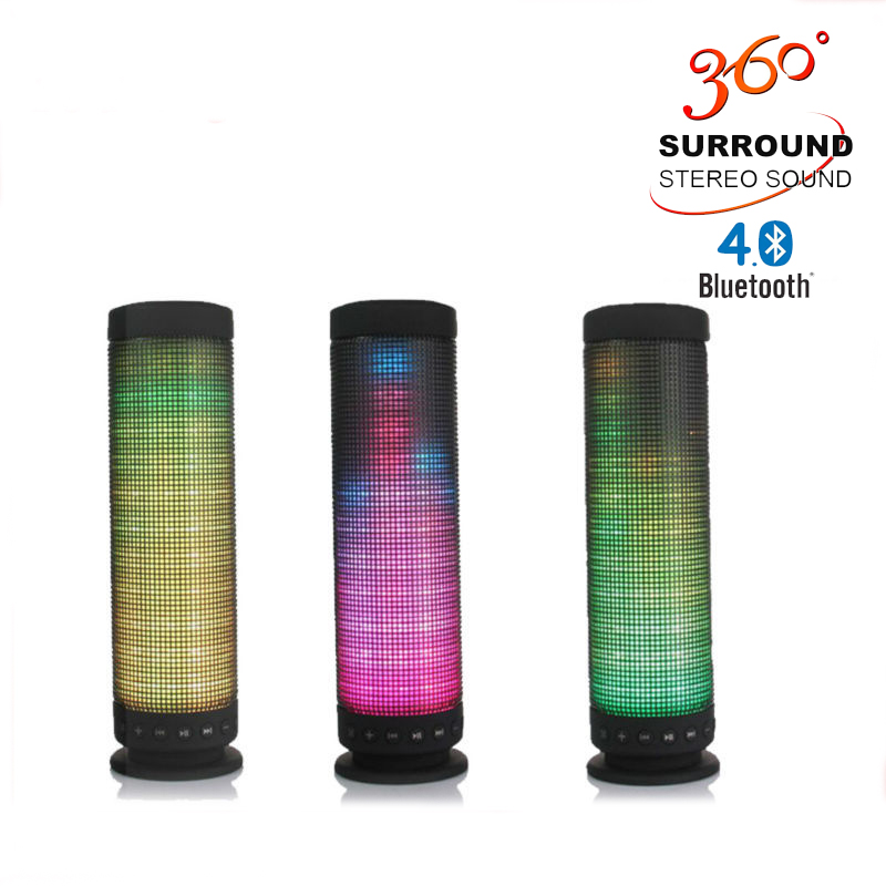 10W Bluetooth Speaker Led Colorful Mini Portable Wireless Bluetooth 4 0 Pulse Computer Speaker AUX IN