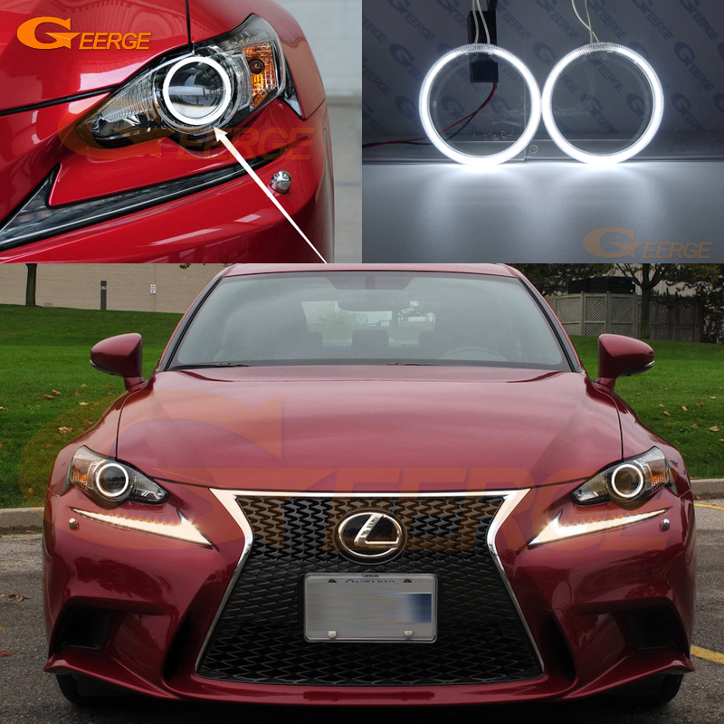 For LEXUS IS350 IS250 ISF 2014 2015 Xenon Headlight Excellent Ultra bright illumination CCFL Angel Eyes kit Halo Ring