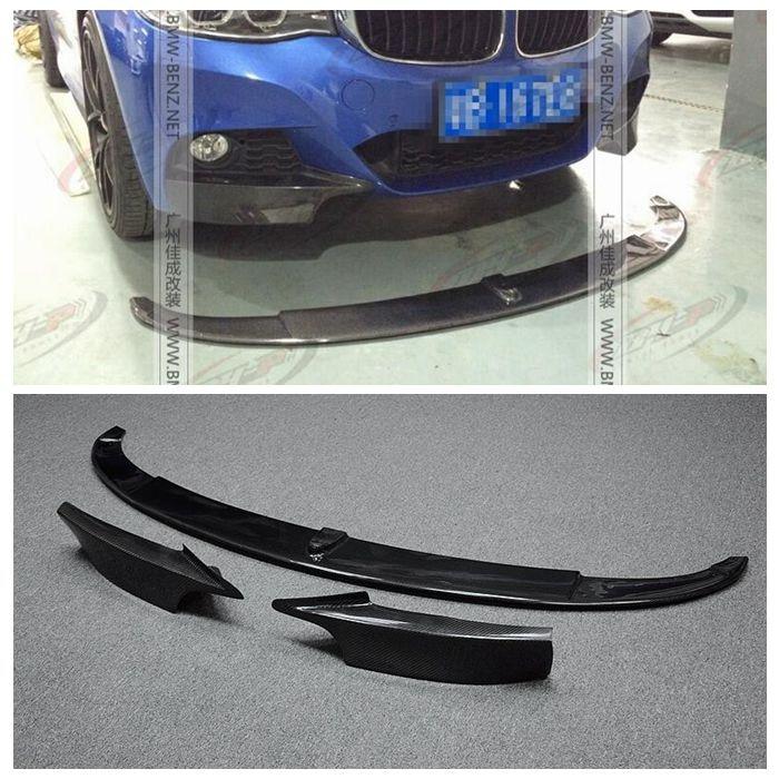 Carbon Fiber Front Bumper Lip Spoiler Chin for BMW 3 series GT F34 M sport 4 Door 328i 330i 335i 340i GT 2013-2017 P Style