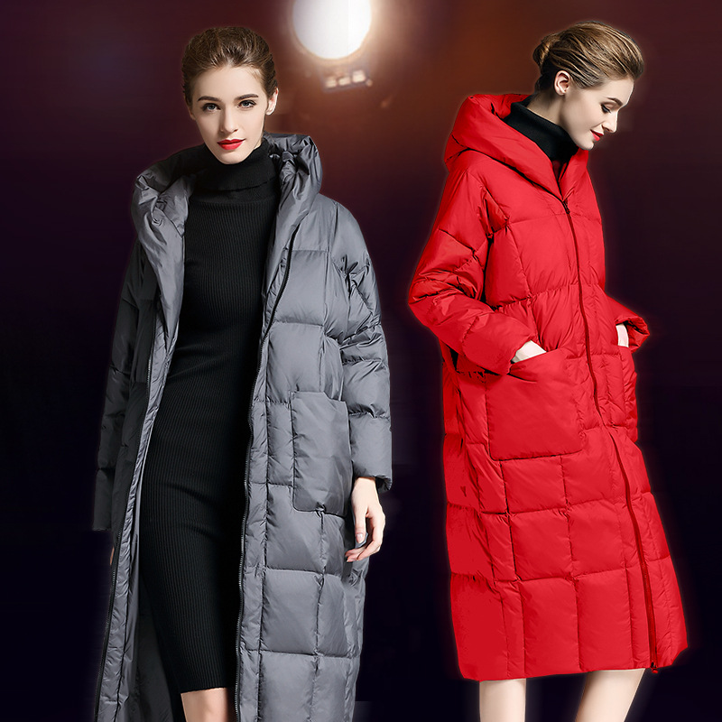 Plus 2018 Winter Jacket women   down   jackets thickened   downs   womens white duck   down   outerwear long   coats     down     coat   long loose