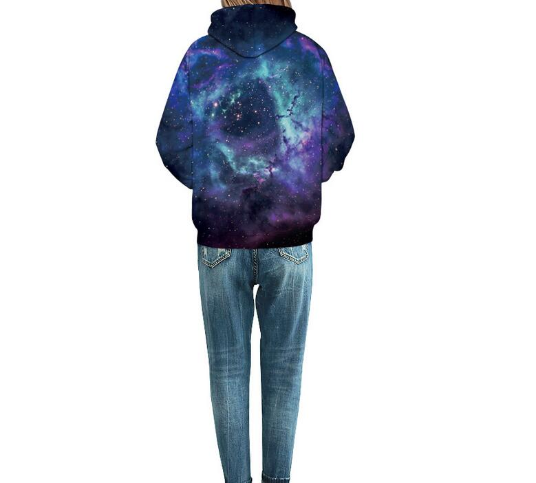 S-XXXL New Men/Women 3d Sweatshirts With Hat Print Sea wave Space Galaxy Hooded Hoodies Autumn Winter Thin Hoody Tops pullovers