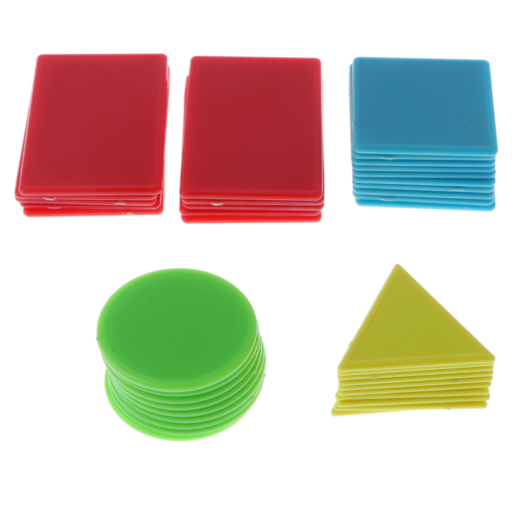 40 Pieces Plastic Counters Counting Chips for Kids Baby Math Mathematics Number Numeracy Games Toy Gift ...