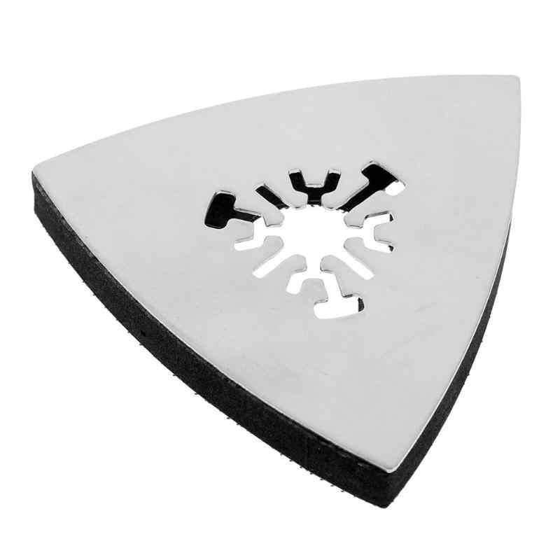 1 Buah 80Mm Multifungsi Segitiga Pengamplasan Pad Abrasive Oscillating Multi Alat Stainless Steel Alat Rotary