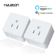 2 Pack Hyleton smart plug 10A Home Automation wifi socket Remote Control power switch Working with