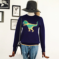 2017 Runway Designer Womens Sweater Long-sleeved Pullovers Jumper Winter Dinosaur Sweaters Oversized Basic Pullover Knitwear