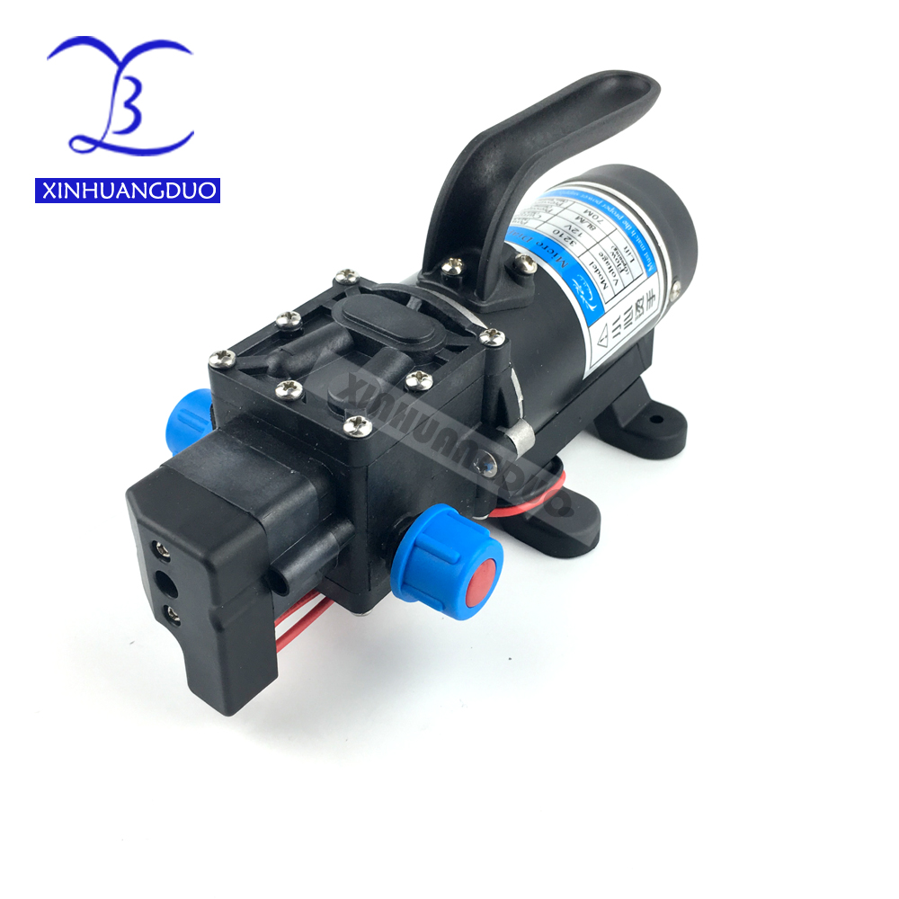 100w 8Lpm automatic pressure switch high pressure self priming mini electric dc 12v 24v diaphragm water pump spray pump cooling