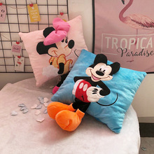35cm 3D Mickey Minnie Mouse Pillow Plush Cushion Gifts For Children Home Decorations Toys Kids