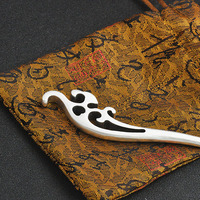 Spoondrift Hair Stick 925 Sterling Silver Luxury Women Jewelry Chinese Handmade Ethnic Hairpin Sister Birthday Gifts Hair Pins