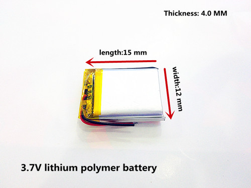 3.7V polymer lithium battery 401215 MP3 MP4 60MAH Bluetooth headset small toy sound free shipping 051230 501230 3 7v 150mah bt150 bluetooth headset mp3 lithium polymer battery mp4 gps bluetooth headset battery