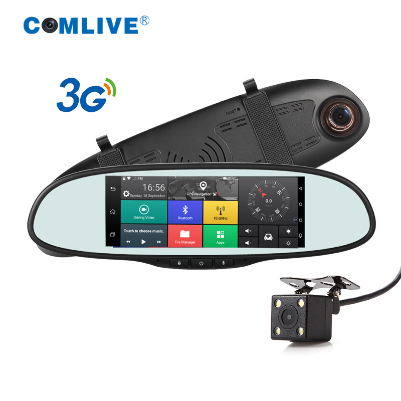 3G Quad Core Android 5.0 car camera WCDMA 2100 dash cam car video recorder bluetooth GPS navi rearview mirror dashcams car dvrs android 5 1 car radio double din stereo quad core gps navi wifi bluetooth rds sd usb subwoofer obd2 3g 4g apple play mirror link