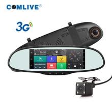 3G Quad Core Android 5.0 car camera WCDMA 2100 dash cam car video recorder bluetooth GPS navi rearview mirror dashcams car dvrs