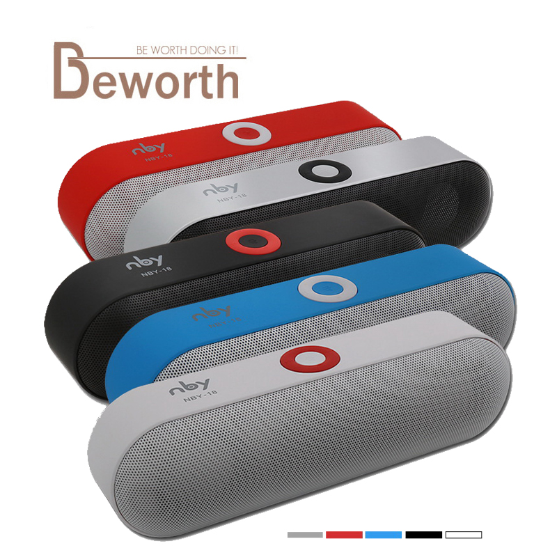 NBY-18 Mini Bluetooth Speaker Portable Wireless Speakers 3D HD Stereo Music Surround Sound System Boombox Bluetooth TF AUX USB