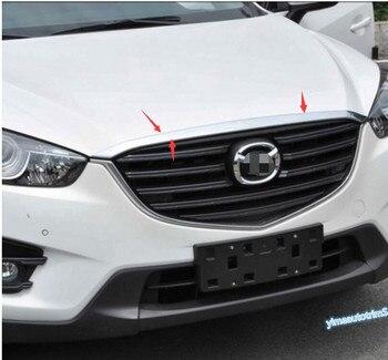 Lapetus wysokiej jakości! 1 sztuk dla Mazda CX-5 2015 2016 ABS z przodu Gill silnika pokrywa odlewnictwo wykończenia