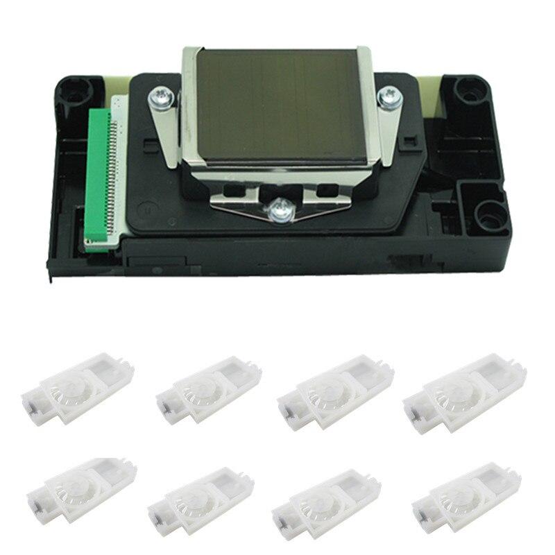 100% nuevo y original nuevo conector verde dx5 cabezal de impresión Mimaki JV33 JV5 CJV30 impresora dx5 cabeza de impresión con amortiguador